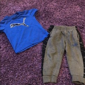 Toddler Boy Matching Puma Shirt and Pants Set Sz3T